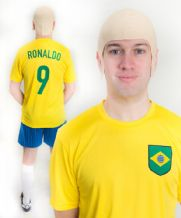 Ronaldo R9 Brazil World Cup Football Fancy Dress Costume